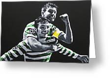 Mulgrew And Watt - Glasgow Celtic Fc Greeting Card