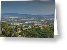 Mullholland Estates Luxury Residences San Fernando Valley Ca Greeting Card