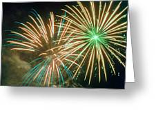 4th Of July Fireworks 2 Greeting Card by Howard Tenke