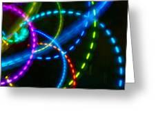 Multi-color Light Orbits Greeting Card