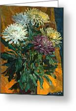 Multi Colored Chrysanthemums Greeting Card