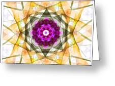 Multi Flower Abstract Greeting Card