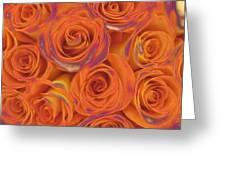 Multi Rose Electric Orange Greeting Card