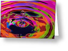 Multicolor Water Droplets 2 Greeting Card