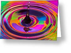 Multicolor Water Droplets 3 Greeting Card