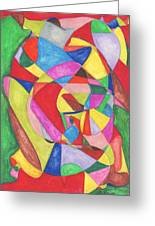 Multicolored Maze Greeting Card by Ellen Howell