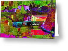 Multicolored Reflections Greeting Card