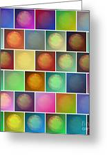 Multicolored Suns Greeting Card