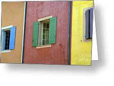 Multicolored Walls, France Greeting Card