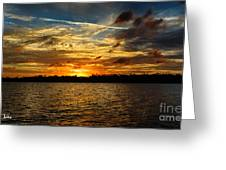 Multicolour At Sea - Sunset Greeting Card