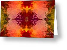 Multilayered Realities Abstract Pattern Artwork By Omaste Witkow Greeting Card