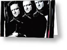 Multiple Johnny Cash Sitting Old Tucson Arizona 1971-2008 Greeting Card