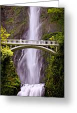 Multnomah Falls Silk Greeting Card