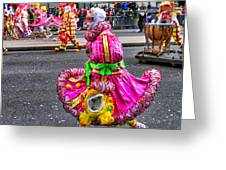 Mummer In A Pink Dress Greeting Card