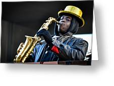 Mummer Jazzman Greeting Card