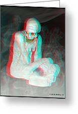 Mummy Dearest - Use Red-cyan Filtered 3d Glasses Greeting Card