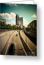 Munich Traffic Greeting Card