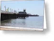Municipal Wharf At The Santa Cruz Beach Boardwalk California 5d23767 Greeting Card