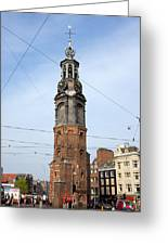 Munttoren In Amsterdam Greeting Card