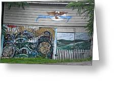 Mural Along Westerlo Avenue Greeting Card