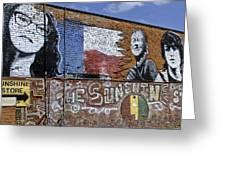 Mural And Graffiti Greeting Card