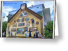 Mural In Beaupre Quebec Greeting Card