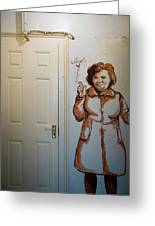 Mural Of Mccourts Mother Angela Greeting Card