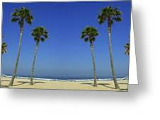 Mural Of The Beach Greeting Card