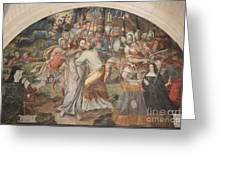 Mural Painting Abbey Fontevraud Greeting Card