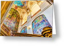 Murals Of Capitole De Toulouse Greeting Card