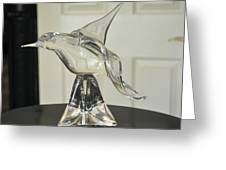 Murano Crystal Bird Greeting Card
