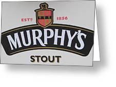 Murphy's Stout Greeting Card