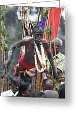 Muruga Procession Vii Greeting Card