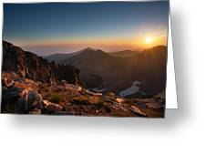 Musala Sunrise  Greeting Card