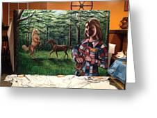 Muscaro Mural Greeting Card