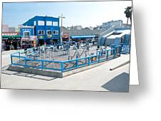 Muscle Beach Gym In Venice California Greeting Card