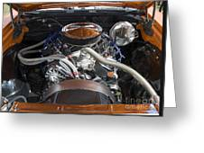 Muscle Car Engine Greeting Card