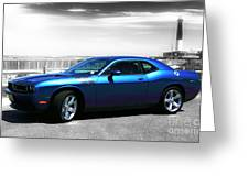 Muscle Car Fusion Greeting Card
