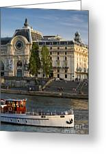 Musee D'orsay Along River Seine Greeting Card