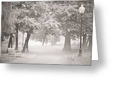 Museum Park Fog Greeting Card