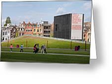Museumplein Lawn In Amsterdam Greeting Card