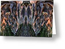 Mushroom Abstract Greeting Card