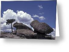 Mushroom Rocks Copper Canyon Mexico Greeting Card