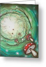 Mushroom Time Tunel Greeting Card