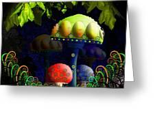 Mushroom Town Greeting Card