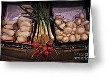 Mushrooms In The Seville Market  Greeting Card