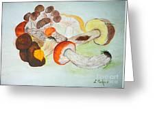 Mushrooms Time Greeting Card