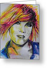 Music Artist..pink Greeting Card