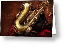 Music - Brass - Saxophone  Greeting Card