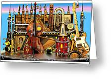 Music Castle Greeting Card
